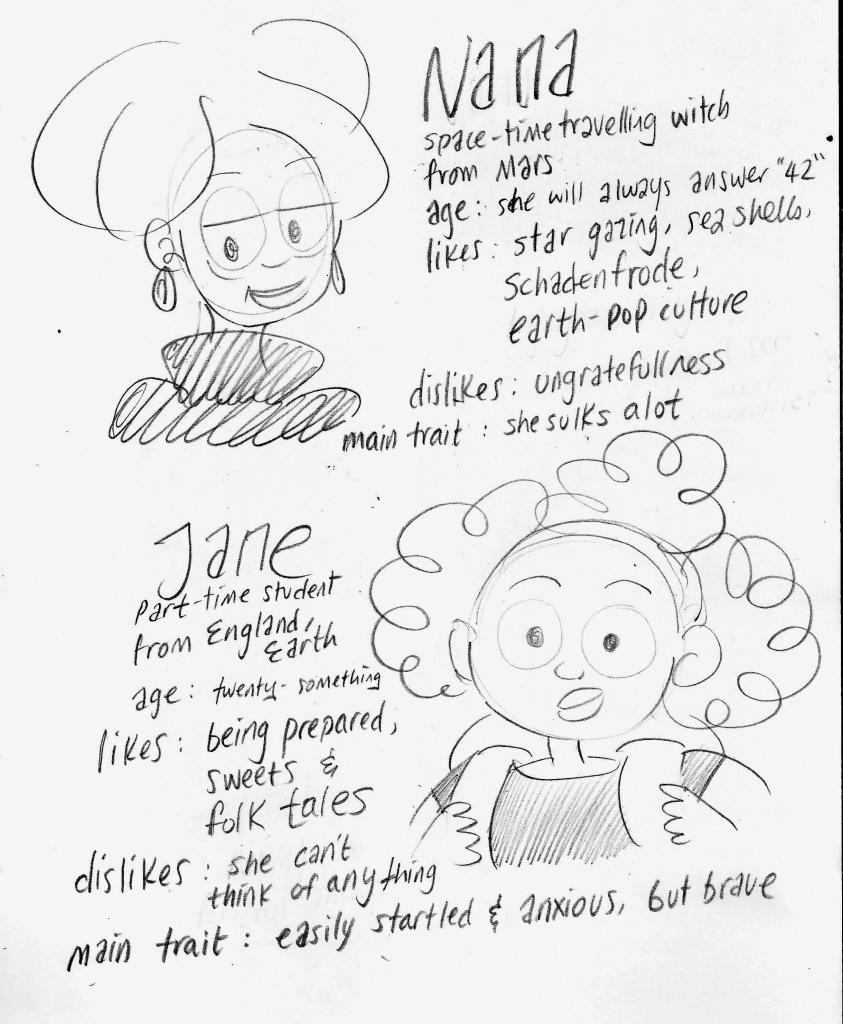 space-nana-chazberi-main-characters